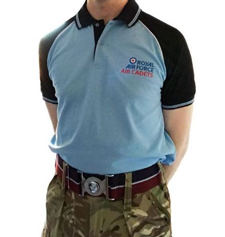 RAF Air Cadet Premium Polo Blue